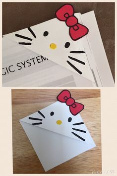 Hello Kitty corner bookmarks
