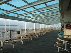 This retractable roof on conservatory Grand Pier in UK is composed with one the biggest glass and automatic motorized aluminum roof done by us. http://www.airclos.com/profile-systems-bifold-doors/
