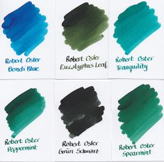 Signatuer ink by Robert Oster. Displayed by fountainfeder.eu