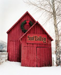 The barn that welcomes you to Sun Valley--a true icon.  #sunvalley #barn #idaho visitidaho.org