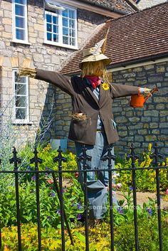 Garden Scarecrow - Wedmore somerset england pictures photos photographs