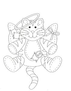 Angel Cat MrTeddi Of Course Wouldnt You Agree Jayye Coloring Pages ColouringCat