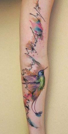 watercolor circuite tattoo - Buscar con Google