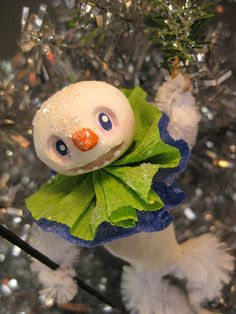 Snowman Ornie, too cute