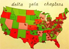 Delta Zeta chapters, Hopefully I will get to be an ELC and visit most of them!