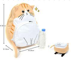 Japanese cute cat backpack - Thumbnail 3