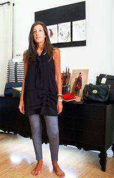 María Rapaza Ela Diz, shirt & leggins by Mado et les Autres