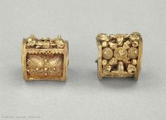 Jewelry | Louvre Museum | Paris Pair of earrings  Second half of the 6th century BC  Chiusi (?), Italy
