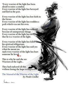 Warrior of Light lessons [ Swordnarmory.com ] #Samurai #Wisdom #Swords