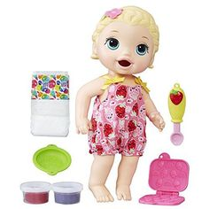 Baby Alive Super Snacks Snackin' Lily- This is just ONE of the BEST toys for girls this age. These are the best TOYS and GIFTS for 7 YEAR OLD GIRLS!  These are the coolest presents to buy girls age seven for their birthday or Christmas.  If you want the best 7th birthday present for a girl, check out this gift guide. It's got so many cool gift ideas for girls 7 years old.