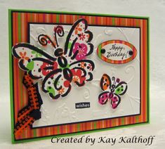 FS12 Cindy Butterflies by Speedystamper - Cards and Paper Crafts at Splitcoaststampers