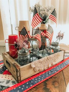 Farmhouse Summer Decor - Lilly is Love Fourth Of July Decor, 4th Of July Celebration, 4th Of July Decorations, 4th Of July Party, July 4th, Americana Decorations, Rustic Americana Decor, Holiday Decorations, Patriotic Crafts
