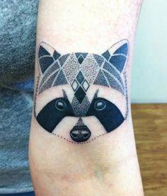 raccoon tribal tattoo - Google Search