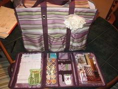 Timeless Beauty Bag and Zip Top Utility Tote with Scentsy  *retired print
