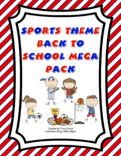 """Hit a home run this school year with this sports themed back to school pack! This 95 page file has all you need to have an all-star start to the year including printable room decorations, a sports themed behavior management system, open house activities, first week parent communication, first week """"get to know you"""" activities, and much, much more! $8.00"""