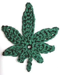 Crocheted Marijuana Leaf | Craftsy