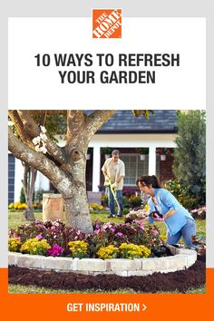 Discover everything you need to makeover your garden with help from The Home Depot. Start your outdoor refresh with The Home Depot products you need brought to your door. You can plant annuals to bring fresh blasts of color to your garden or prune flowers to encourage more growth. Click to see more ways you can keep your garden looking its best.