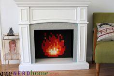 DIY 8-bit fire