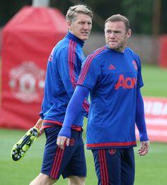 Calcule usted el peso del combo Bastian Schweinsteiger y Wayne Rooney que ha armado el MUFC.