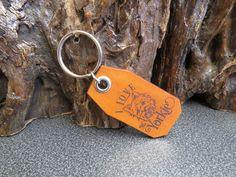 Yorkie Key ring Genuine leather pet dog key chain 608 Thick Leather, Natural Leather, Pet Dogs, Pets, Leather Keyring, Split Ring, Cowhide Leather, Key Rings, Key Chain