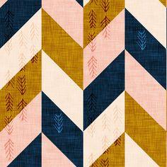 Desert Chevron (LARGE) fabric by nouveau_bohemian on Spoonflower - custom fabric