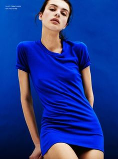 THIS is the perfect shade of BLUE .................................. Olga Boiko by Charlotte Wales for New Wave Women