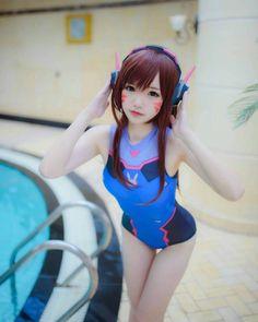 Swimsuit D.Va  Cosplayer: 雪晴  Follow @raraguy for best cosplays #overwatch #overwatchcosplay #dva #dvacosplay #swimsuit #cosplay #cosplayer #cosplaygirl #cosplayworld #game #anime #manga #costume #china #asian #asiangirl #girl #cute #cutegirl #kawaii #kawaiigirl #otaku #sexy #sexygirl