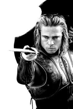 Dope…Brad Pitt as Achilles - Troy Brad Pitt Troy, Troy Achilles, Troy Movie, Real Life Heros, Cute White Boys, Knight Art, Art Of Manliness, Cinema Movies, Greek Mythology