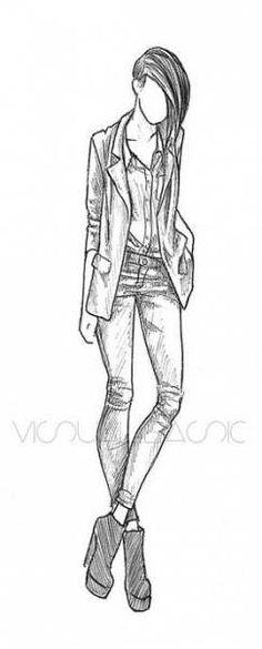 29 En Iyi Insan Figür çizimi Görüntüsü Pencil Drawings Fashion