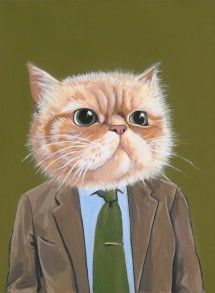 Harold - A Cat in Clothes - Fine Art Giclee Print