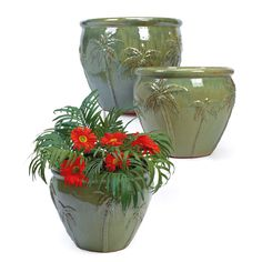 Ceramic Terrace Planters, Old Time Pottery