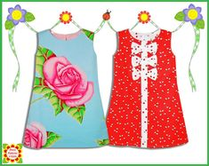 Adele Girls Dress Patterns, A-line Dress pattern, 2-12y, SEWING PATTERNS for Children, pdf, Digital Pattern, Tutorial, ebook via Etsy