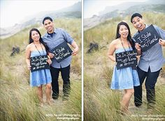 Make easy, DIY signage for your wedding day! All this was some black construction paper, a Popsicle stick and some white paint! #love quote #engagement