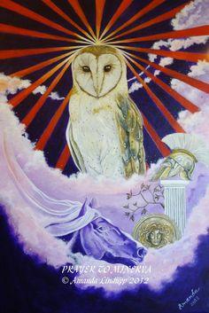 A4 « Prière à Minerva » monté Print