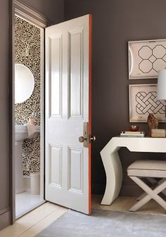 6 Secure Clever Tips: Best Bathroom Paintings interior painting palette bathroom.Interior Painting Schemes Most Popular interior painting tips home improvements.Interior Painting Tips Home Improvements. Painted Interior Doors, Interior Paint Colors, Painted Doors, Purple Interior, Interior Painting, Small Room Bedroom, Small Rooms, Bedroom Ideas, Girls Bedroom