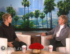 When Justin Bieber possibly tinkled in his Calvin Kleins. | 26 Times Ellen DeGeneres Scared The Crap Out Of Famous People