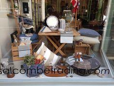 Salcombe trading bath window display- summer is coming!