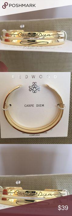 Gold carpe diem cuff Never worn. New!! Jewelry Bracelets