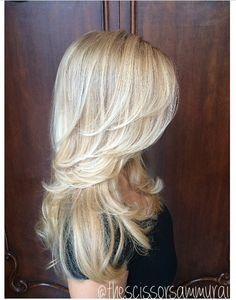 Follow me on Instagram! @thescissorsammurai Long Layered Haircuts, Haircuts For Long Hair, Long Hair Cuts, Blonde Layered Hair, Blonde Long Layers, Date Hairstyles, Homecoming Hairstyles, Wedding Hairstyles, Medium Hair Styles