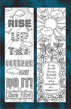 Be blessed with God's word in your bookmarks!This printable set of coloring bookmarks is perfect for all ages. Details:* The ZIP folder includes 1 pdf file and Bible Coloring Pages, Coloring Books, Coloring Stuff, Colouring Sheets, Diy Origami, Bible Art, Bible Verses, Pinterest Foto, Kids Church