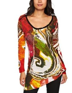 Colours for autumn - love this top! #colourful #tops #long sleeves #autumn #fall