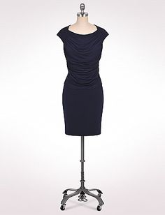 | Petite Drape Front Dress | dressbarn