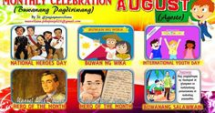 2018 Monthly Celebration with Monthly Motto August Elementary Bulletin Boards, Classroom Bulletin Boards, Classroom Decor, School Frame, I School, Monthly Celebration, Bullying Posters, Alphabet For Toddlers, Anti Bullying