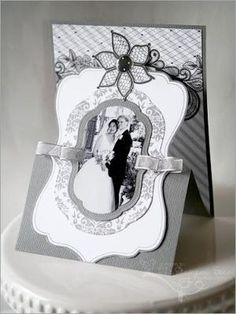 The Stampin' Bean: Black Ice Joy Fold Card, Tri Fold Cards, Fancy Fold Cards, Folded Cards, Pop Up, Side Step Card, Wedding Cards Handmade, Card Table Wedding, Step Cards