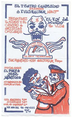 Citation: El Teatro Campesino Fundraiser, 1978. Tomás Ybarra-Frausto research material on Chicano art, Archives of American Art, Smithsonian Institution.