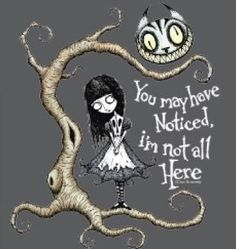 "Goth Alice In Wonderland - ""You May Have Noticed, I'm Not All Here"""