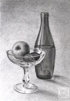 Trendy drawing charcoal still life colored pencils Ideas - Trendy drawing charc. Still Life Sketch, Still Life Drawing, Still Life Art, Pencil Art Drawings, Art Drawings Sketches, Easy Drawings, Charcoal Drawings, Still Life Pencil Shading, Bottle Drawing