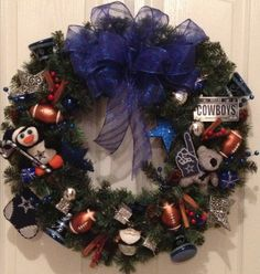 Dallas Cowboy Wreath by on Etsy, $78.00
