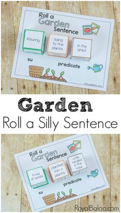 Free roll a silly garden sentence and work on reading and writing skills. It's more fun to laugh while learning and these silly sentences will get them laughing. From Royal Baloo.