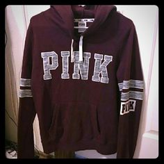 "Rare htf Maroon/marl pullover hoodie Pullover hoodie. Rare and hard to find! Size medium, true to size. Could also fit a small comfortably.  Willing to take offers, please no low balls! ALL OFFERS are to be made using the offer button ONLY! No asking ""my lowest"". Very cute! Has some Fuzzes other than that amazing condition!!! Wiling to trade for something amazing and only for other Victoria's secret pink clothing or bedding. Bundle to save! PINK Victoria's Secret Sweaters"